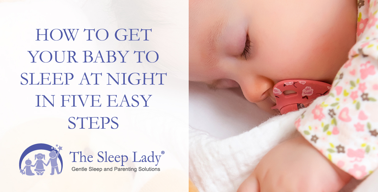 how to get your newborn baby to sleep at night