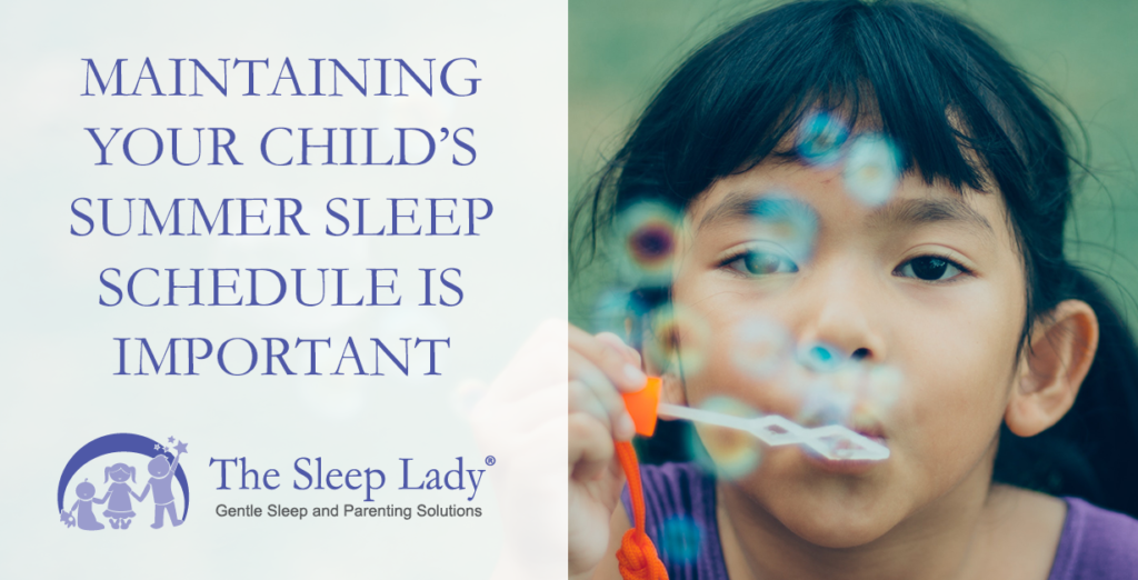 child's summer sleep schedule